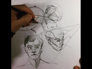 Design sketch | People's faces by İrfan Çiftçi #Sketches@industrial.design