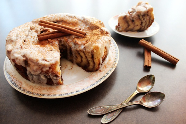 Сливочный пирог с корицей из тостового хлеба