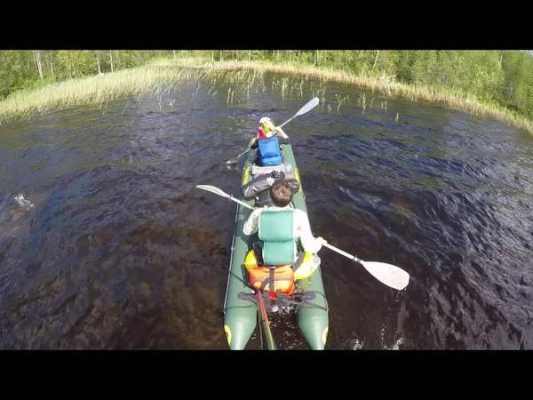 Водный поход по очень таежной реке Волома.