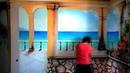 Роспись стен на кухне Терраса с видом на море