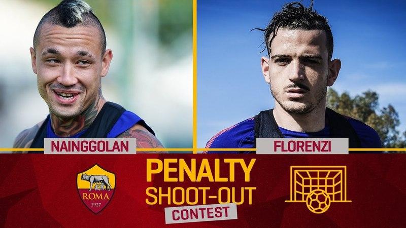 AS Roma Penalty Contest Nainggolan v. Florenzi (Quarter-final 1)