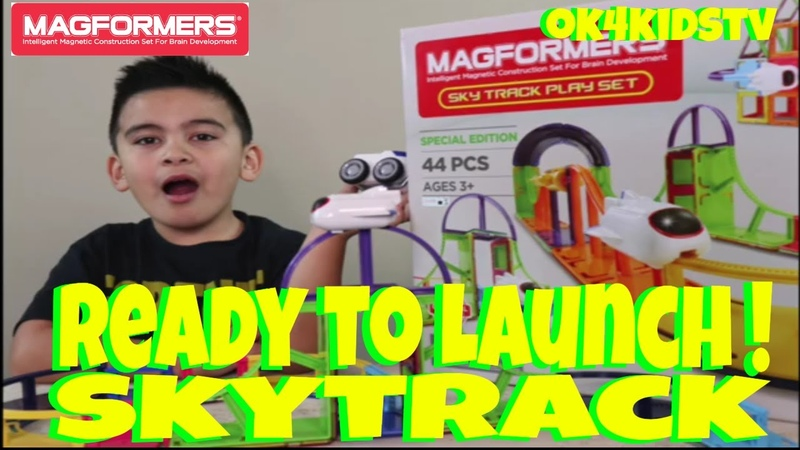 Magformers Sky Track Play Unboxing and Toy Review ok4kidstv video 235