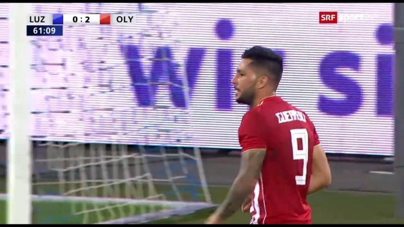 Лига Европы 2018-19 3 кв раунд Ответный матч Люцерн (Швейцария) - Олимпиакос (Греция)