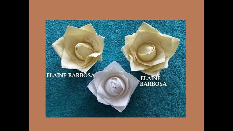 IDEIAS com GUARDANAPOS flor de guardanapos ideias fáceis@Artesanato