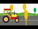 How to Draw a Tractor Easy and Simple Draw Colour for kids
