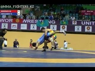 Мерей Бекенов (Қазақстан) VS Халмурат Ибрагимов (Қырғызстан) 67 кг.