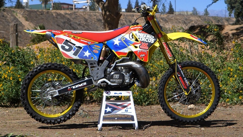 Motocross Action tests Travis Pastranas Suzuki RM250 MXDN 2 Stroke