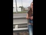 Пьяная девушка за рулем. Погоня ДПС за Маздой на МКАД
