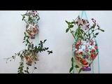 Подвесной горшок для цветов. Поделки для дачи и сада