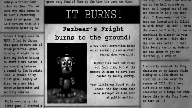 Пасхалки Five Nights At Freddys 3 - Мангл, Золотой Фредди и FNAF 4