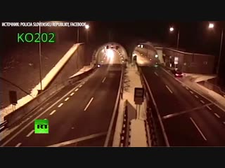 Авария в Словакии: водитель перевернулся на машине в воздухе и остался жив
