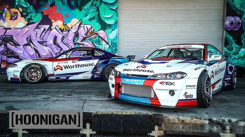 2000HP Tandem Thrash - James Deane and Piotr Wiecek's Nissan S15s DT266