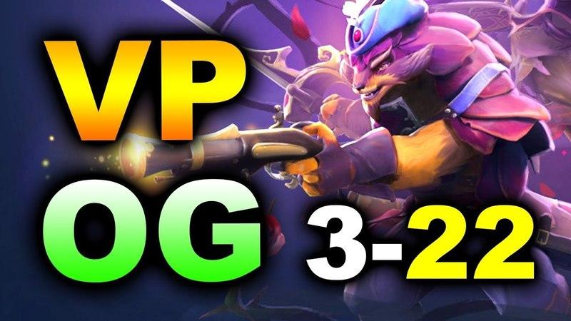 VP vs OG OpTic - 1st Place 322 GG! ESL Birmingham MAJOR DOTA 2