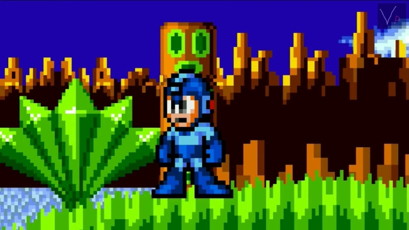 Megaman In Green Hill Zone (Sprite Animation)