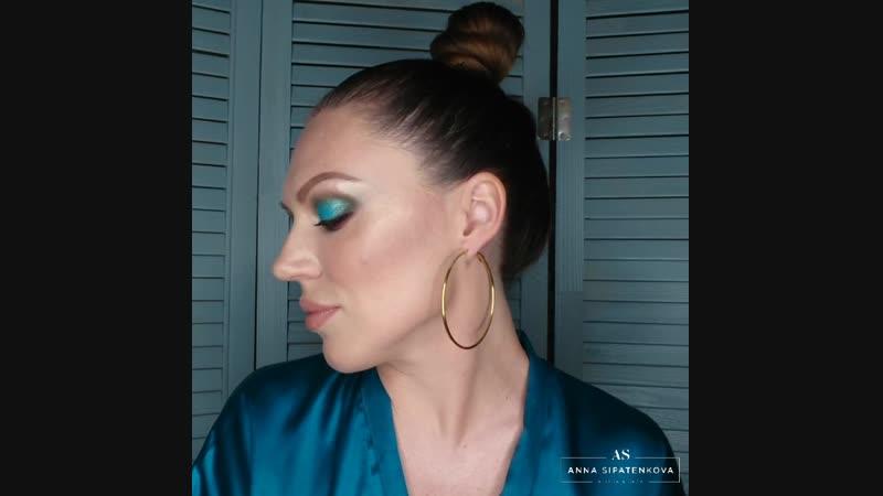 Вечерний макияж с палеткой Juvias.Визажист Анна Сипатенкова
