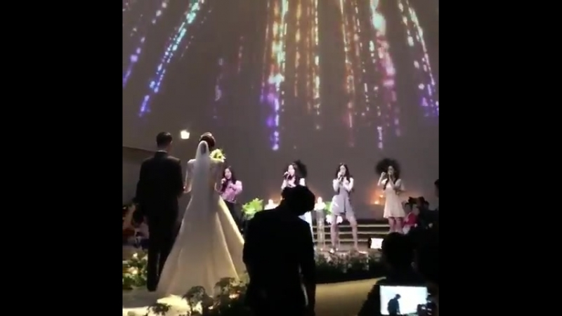 180623 Dalshabet 달샤벳 singing to Supa Dupa Diva at Kaeuns 가은 wedding
