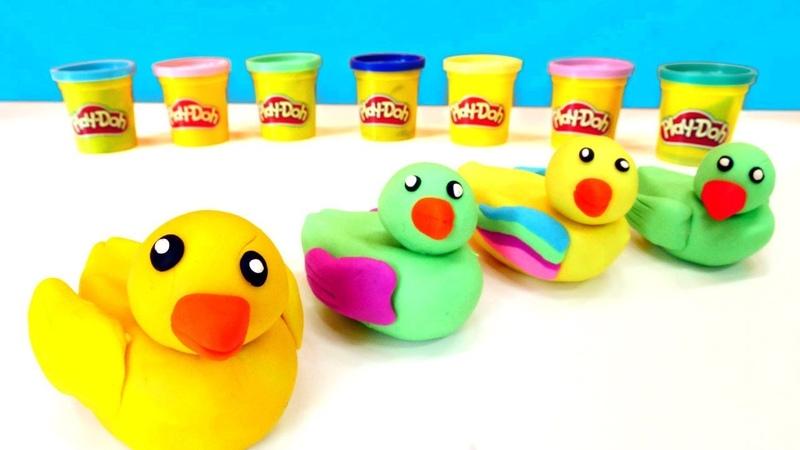 Play-Doh oyun hamuru ile ördek yapalım. Eğitici video