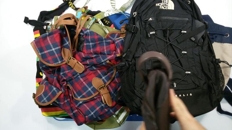 1353 Backpacks Mix (10 kg) 5пак - сумки/рюкзаки микс Англия