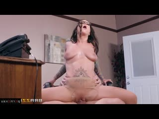 Johnny Castle & Felicity Feline [ In the office &  With talk / Pussy, Cum on face, Glasses, Tattoo, Shaved, With the plot]