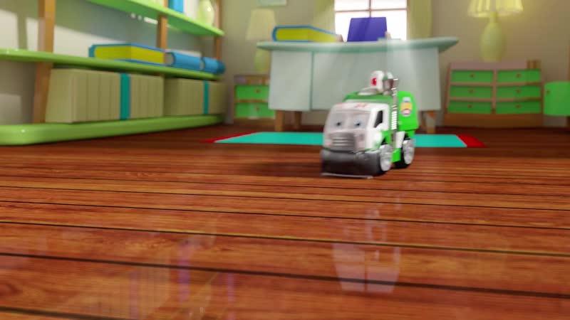 Машинка – мусоросборщик Mr. Dusty из серии Real Working Buddies от производителя Jakks Pacific..mp4