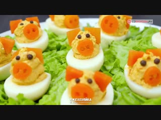 Как приготовить фаршированные яйца Свинки