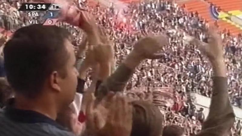 2004 1 й гол Романа Павлюченко в ворота испанского Вильярреала 2 2