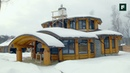 Разноуровневый дом с эркерами по технологии бревенчатого каркаса FORUMHOUSE