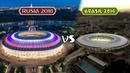 Estadios de Brasil 2014 VS Rusia 2018