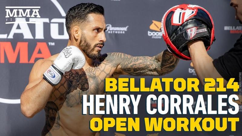 Bellator 214 Открытая тренировка Генри Корралеса