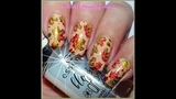 How to Stamp with Permanent Markers and Mirror Metal Polishes - Fall Manicure