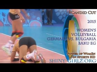 2015 Volleyball - Germany vs. Bulgaria - Baku EG Day 1 (Slow Motion)
