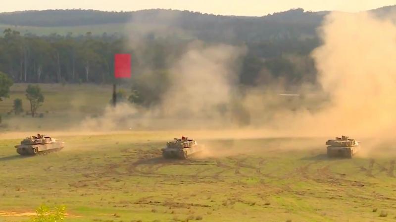 Танки M1A1 AIM SA ВС Австралии на учениях Chong Ju 2018