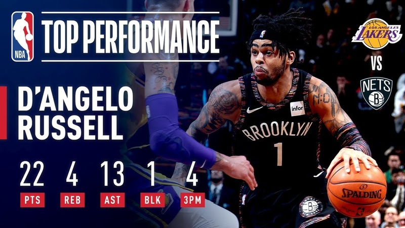 D'Angelo Russell Comes Up CLUTCH Against The Lakers   December 18, 2018 NBANews NBA Nets