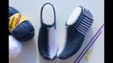 İki Şişle Renk geçişli SADECE DÜZ-TERS Çarık Patik Yapılışı//Çeyizlik Kolay Dikişsiz Patik Modelleri