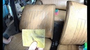 How to clean an old dirty leather in a car using a bathroom cleaner
