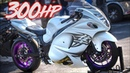 300HP Suzuki Hayabusa Battle - Turbo vs Nitrous!