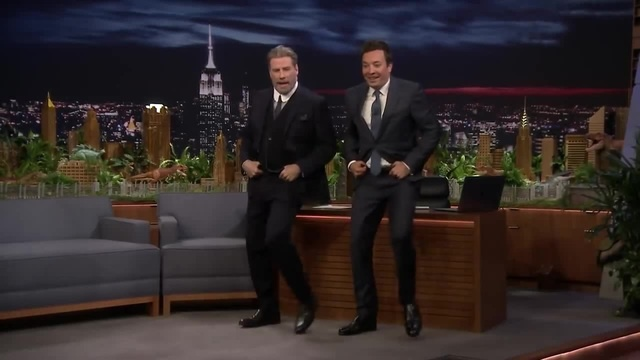 John Travolta Does His Iconic Grease Dance with Jimmy to Celebrate the 40th Anniversary