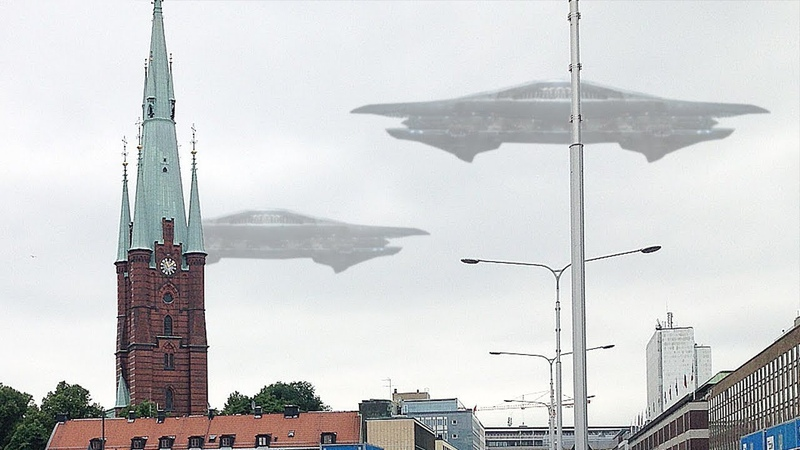 GIANT Alien Spacecraft Sighting Over Sweden 17th September 2018!!
