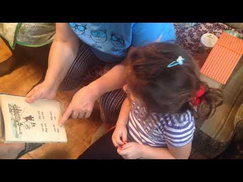 Бабашка учит Соню читать - 2014-12-21