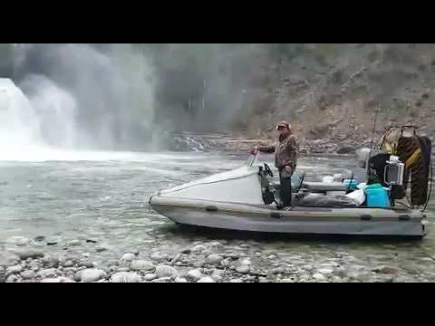 Водопад р.Урик (одно из самых труднопроходимых мест)