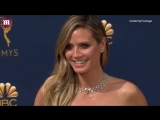 Heidi Klum gets close to boyfriend Tom Kaulitz at 2018 Emmys