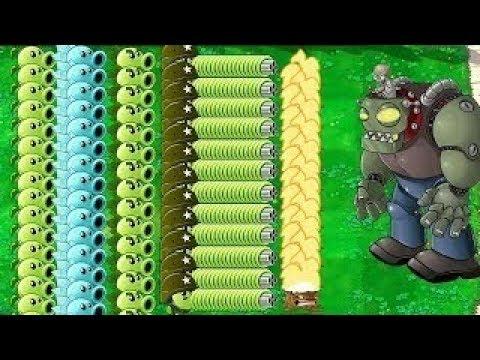 Plants vs Zombies All big Pea vs All Zombies Pvz