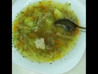 Гречневый суп с капустой.🙌