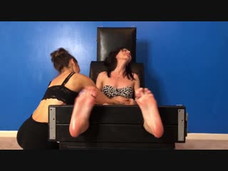 MoreTicklishGirls - Leilani Tickled in the Stocks by Jazmine - UNCUT