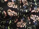Штапель цветы на черном