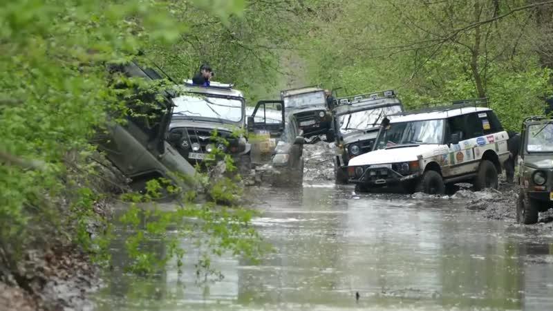 Красивый OFF ROAD на ТАНКОВОЙ ДОРОГЕ от ЛуАЗа до Range Rover часть-2