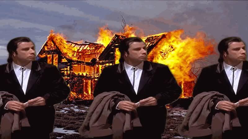 Vincent Vega extinguishes fire
