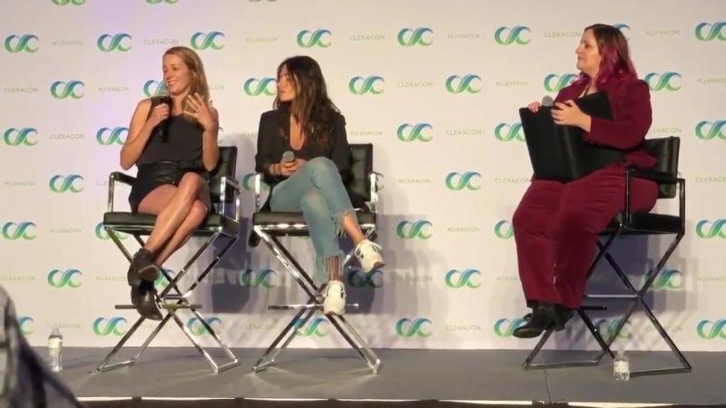 Amy Acker and Sarah Shahi | ClexaCon2018 | Amy said that she love Sarah