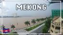 MEKONG TIME LAPSE. Phnom Penh, Cambodia. Panorama Mekong Hostel