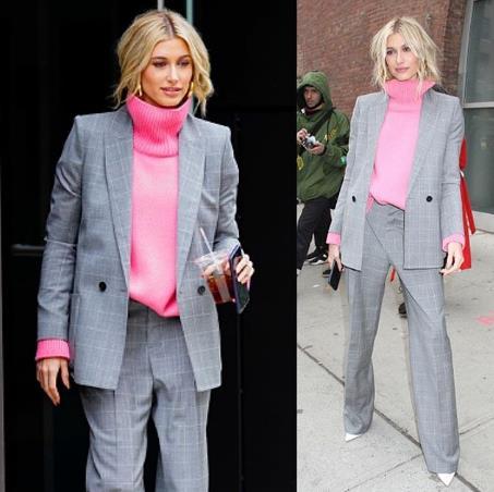 Хейли Бибер на Неделе моды.